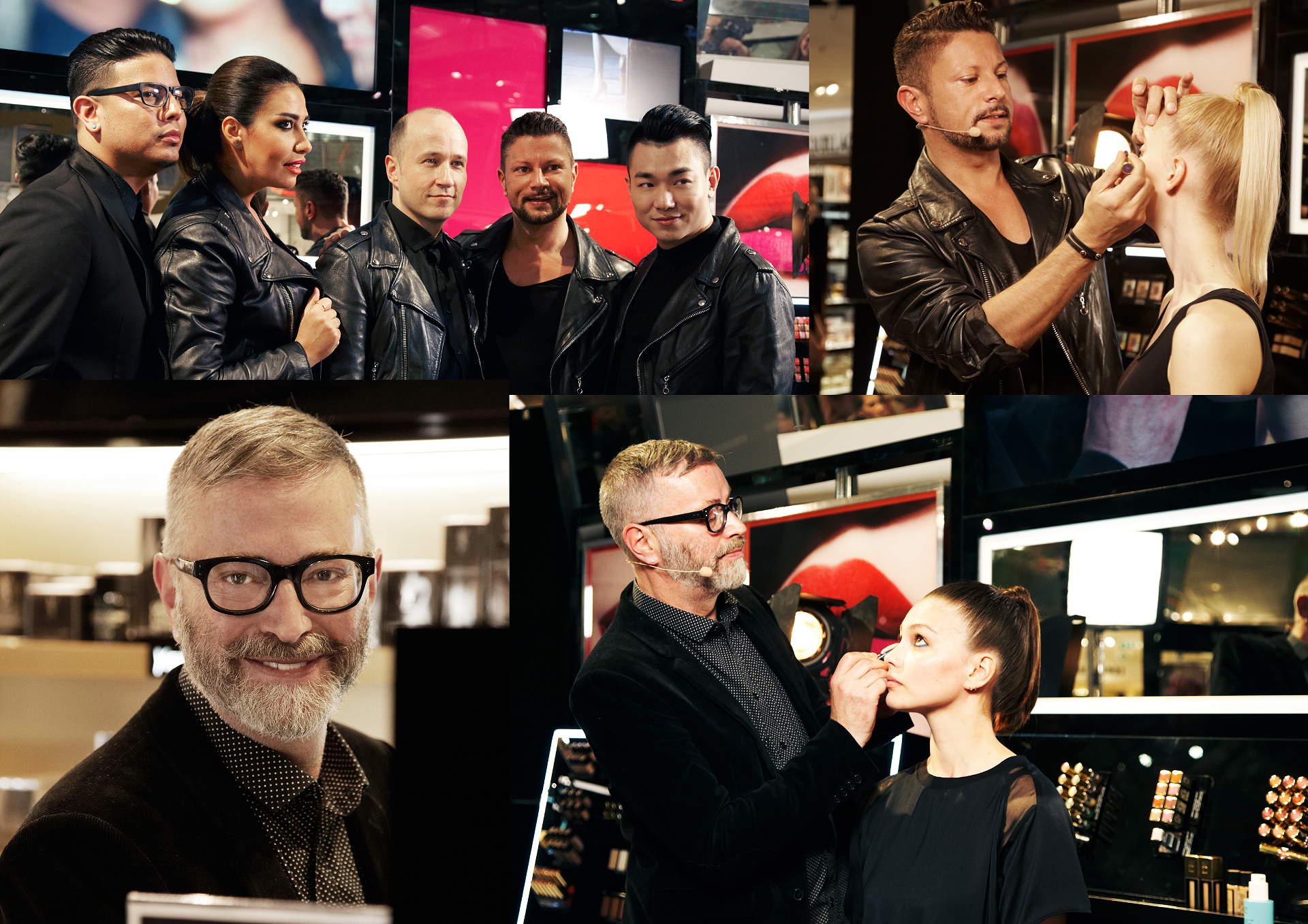 Internationale Make-up-Artists auf dem After Work Event von YSL Beauté und Lloyd Simmonds beim Präsentieren des neuen Looks.