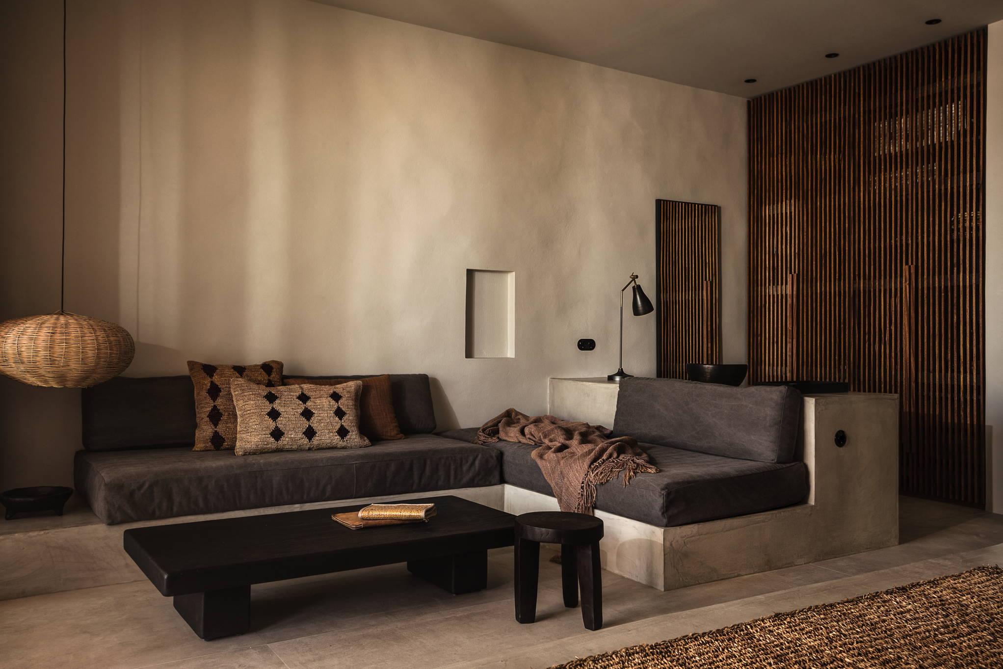 look&love-Fernweh-Der Wohnbereich eines Apartments vom Hotel Casa Cook auf Kos