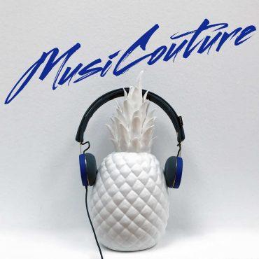 lookandlove Musicouture listen&love ananas, mit kopfhörern