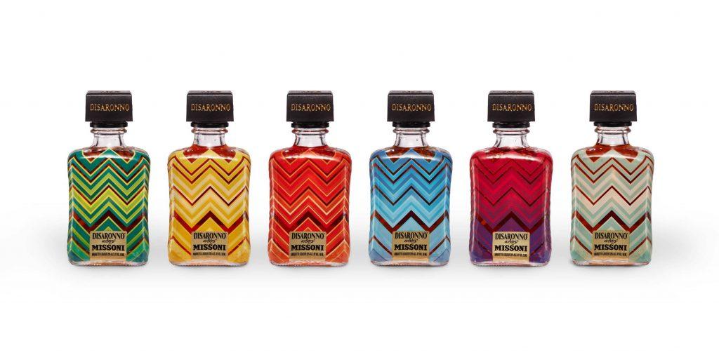 Miniatur-Flaschen von Disaronno x Missoni